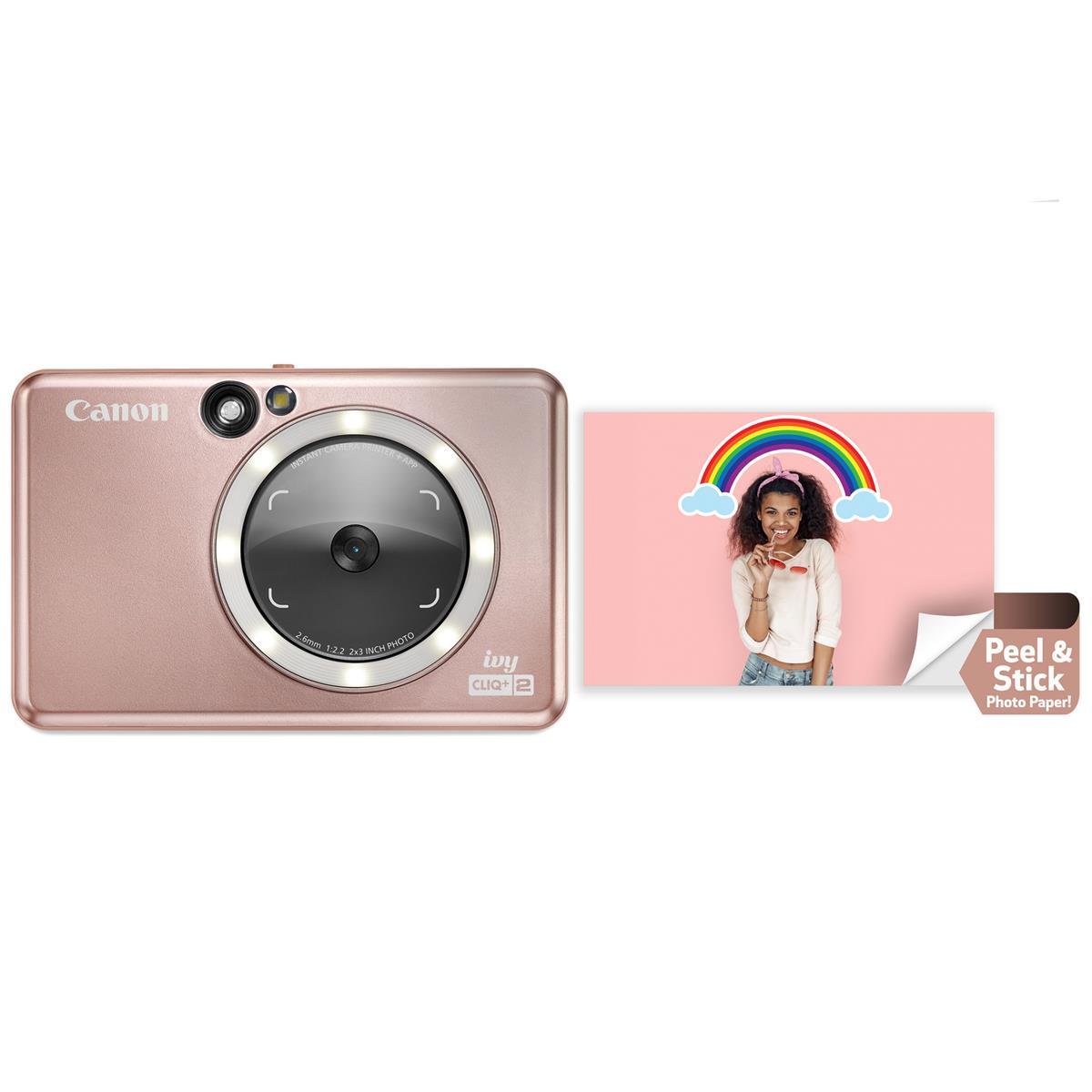 Canon - Ivy Cliq + 2 Instant Film Camera - Rose Gold