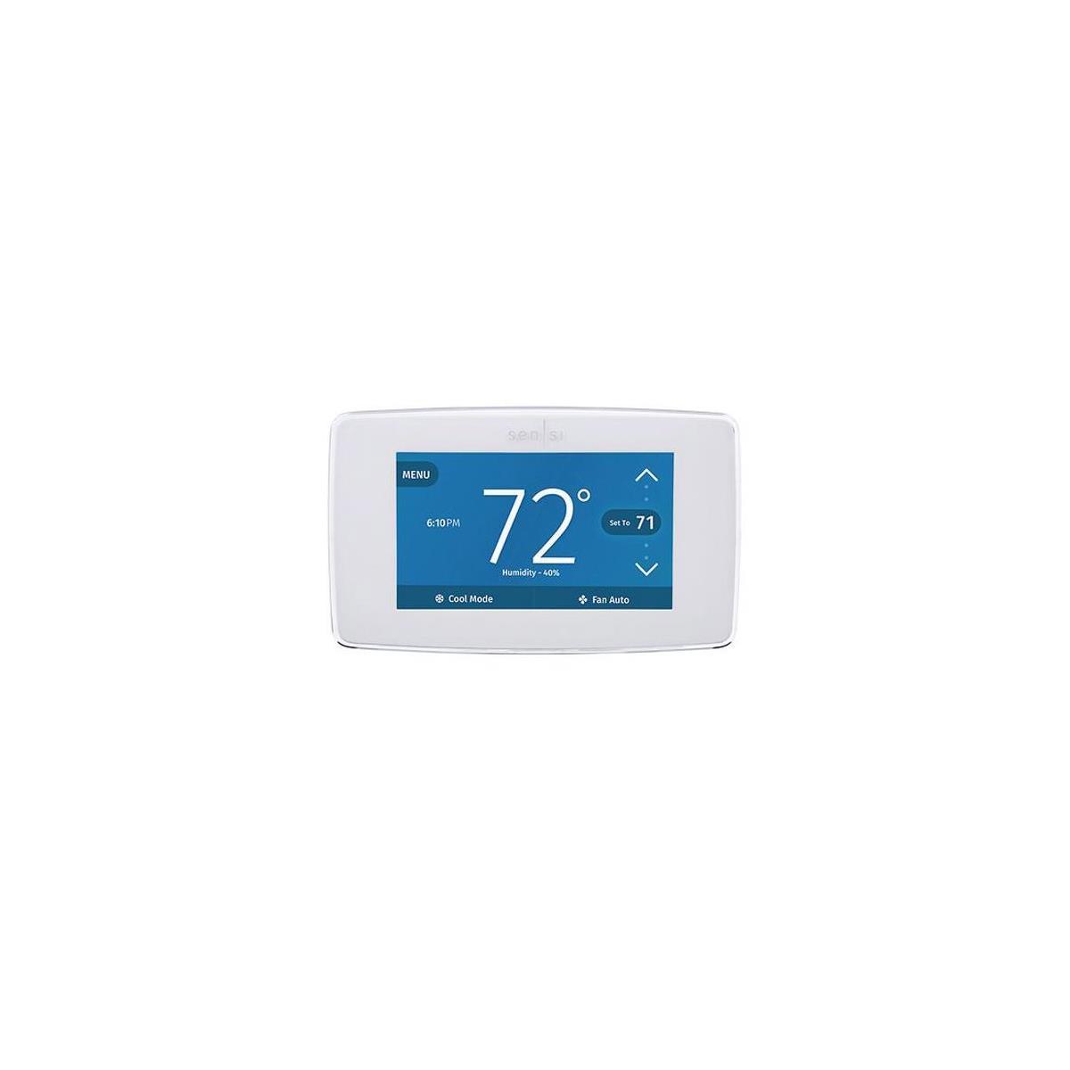 Emerson Electric Sensi Touch Wi-Fi Smart Thermostat, White