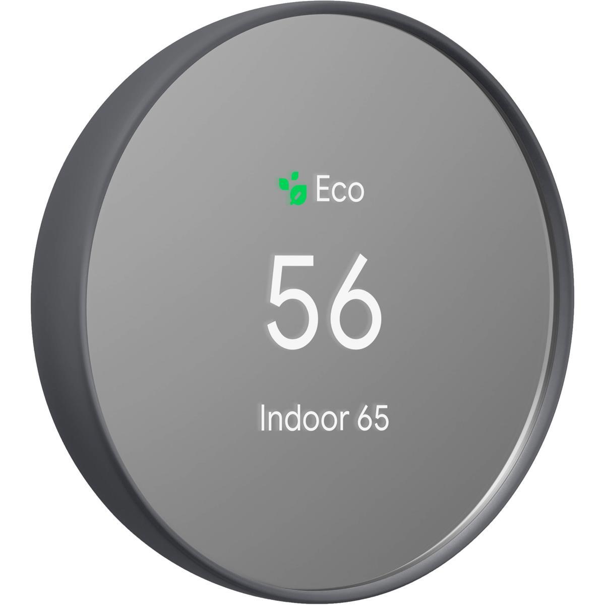 Google Nest Nest Thermostat, Charcoal