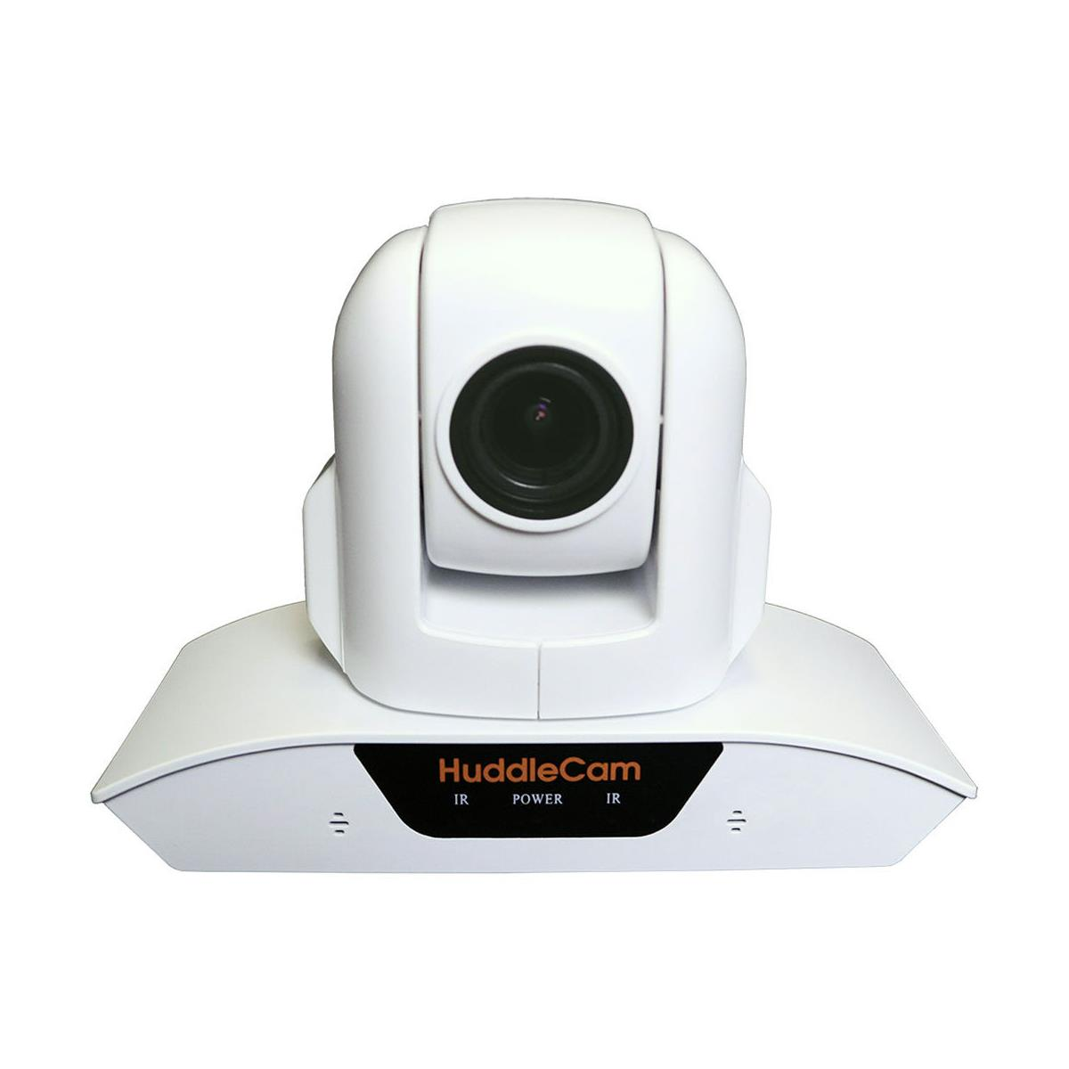 HuddleCamHD 10XA 2MP Camera with Built in Microphone, 10x Optical Zoom, f=4.9-49mm F2.0-2.8 Lens, 1920x1080, 30fps, White