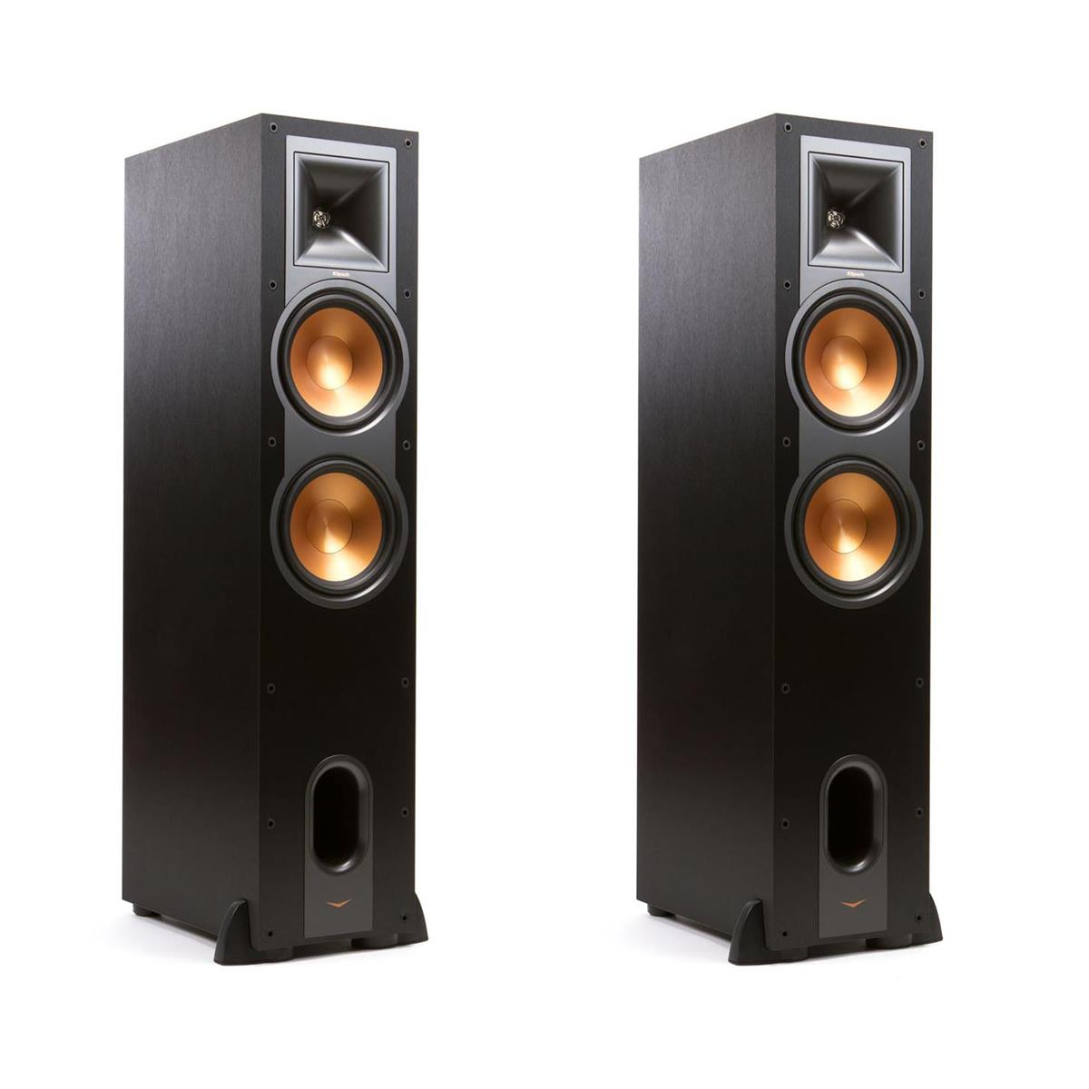 Klipsch 2 Pack R-28F Floorstanding Speaker, 600W Peak Power, Single