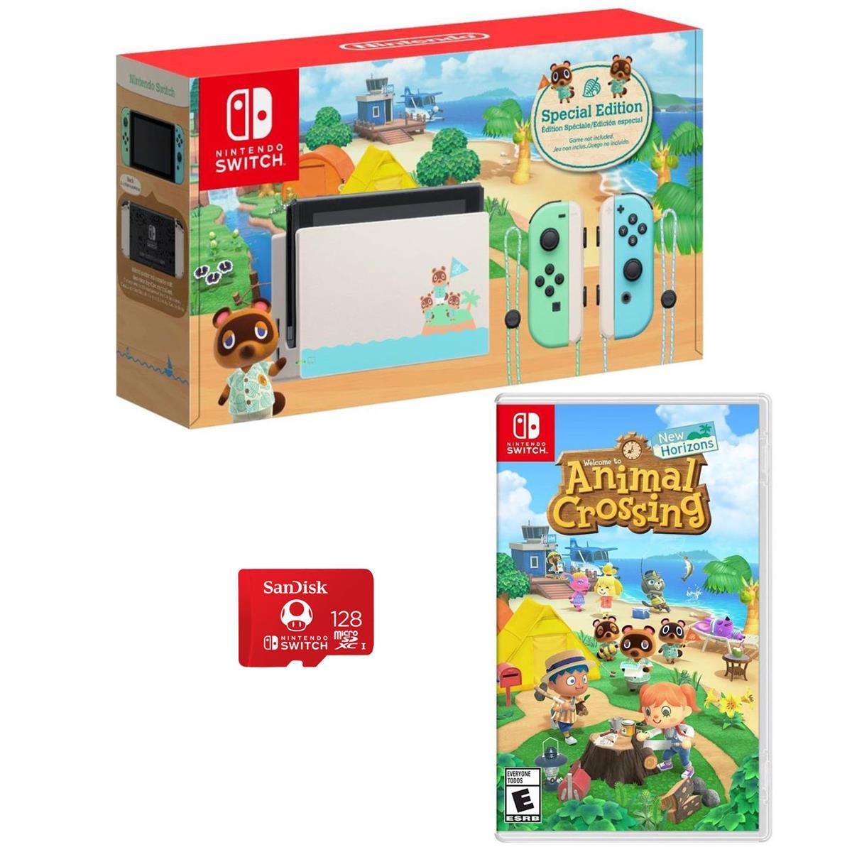 Nintendo - Switch 32GB Console - Animal Crossing: New Horizons Edition Bundle