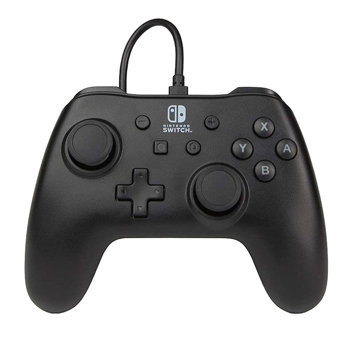 PowerA Wired Controller for Nintendo Switch, Matte Black