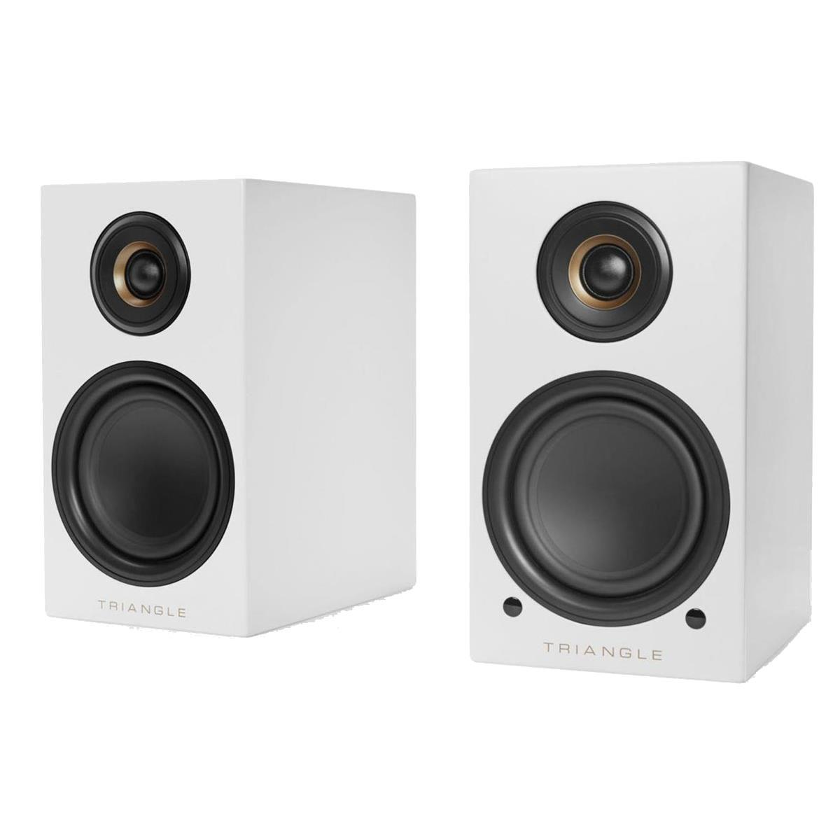 Triangle Wireless Bluetooth Bookshelf Speakers - LN01A, White, Pair